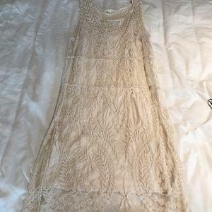 Express ivory lace sun dress. Medium